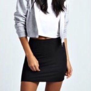 Cotton stretchy mini skirt